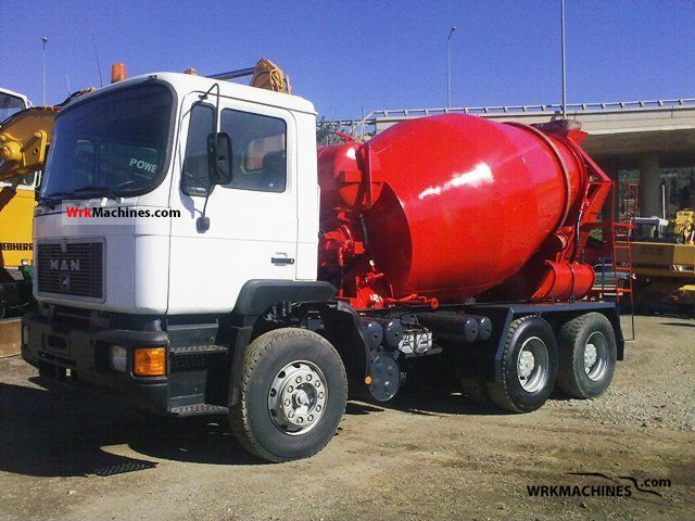 1991 MAN NL 263 Truck over 7.5t Cement mixer photo