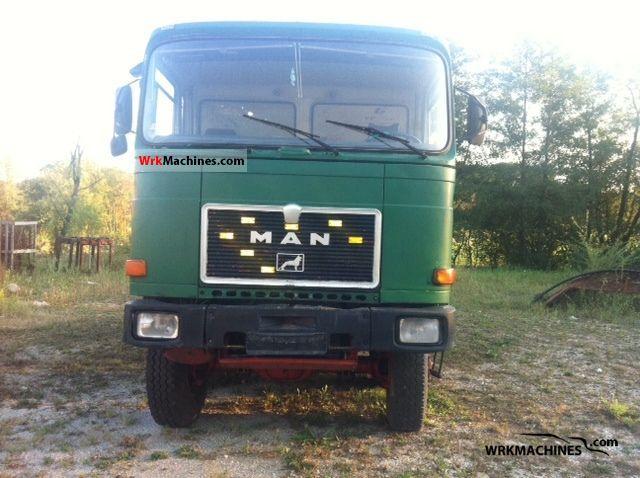 1986 MAN SR 280 Truck over 7.5t Three-sided Tipper photo