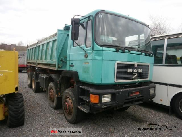 1994 MAN F 90 372 Truck over 7.5t Tipper photo