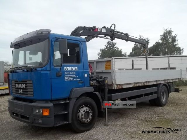 2000 MAN M 2000 L 250 Truck over 7.5t Truck-mounted crane photo