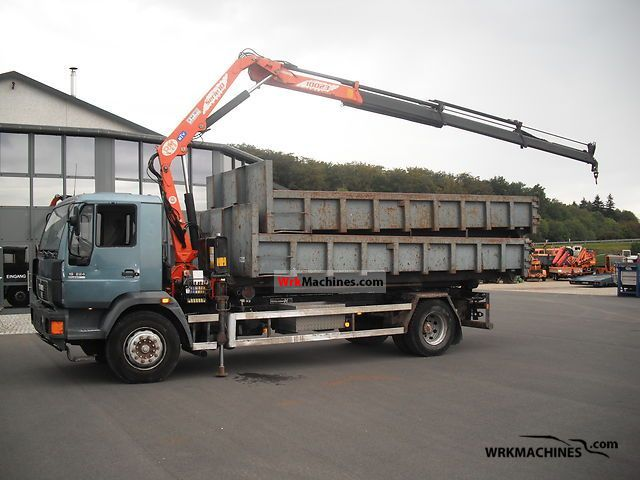 1998 MAN M 2000 L 18.224 Truck over 7.5t Roll-off tipper photo