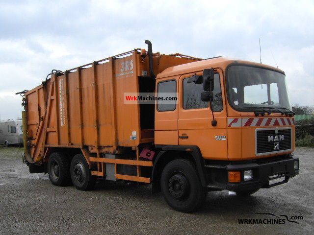 1995 MAN M 90 24.222 Truck over 7.5t Refuse truck photo