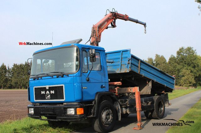 1993 MAN M 90 18.192 Truck over 7.5t Three-sided Tipper photo