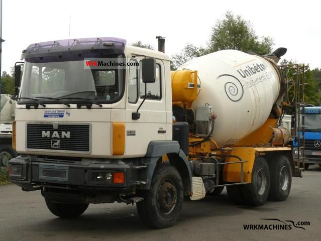 1998 MAN F 2000 27.343 Truck over 7.5t Cement mixer photo