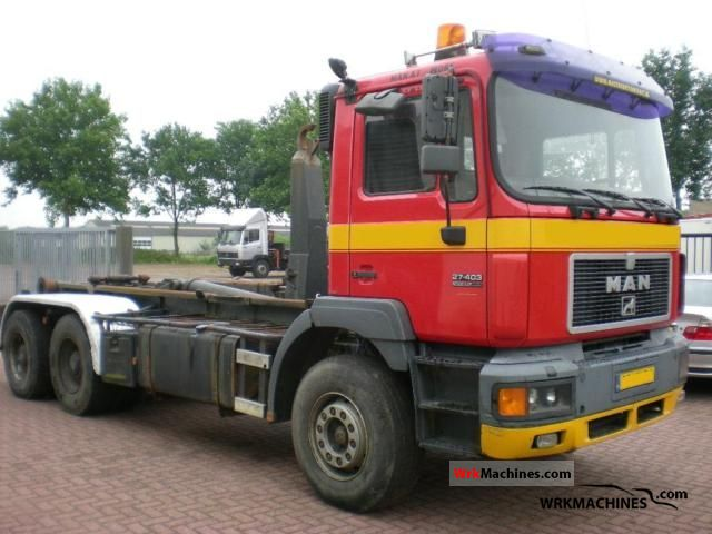 1998 MAN F 2000 27.403 Truck over 7.5t Roll-off tipper photo