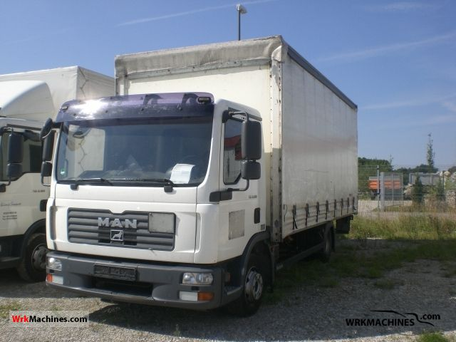 2007 MAN TGL 8.180 Van or truck up to 7.5t Stake body and tarpaulin photo