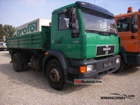 1999 MAN M 2000 L 18.264 Truck over 7.5t Three-sided Tipper photo