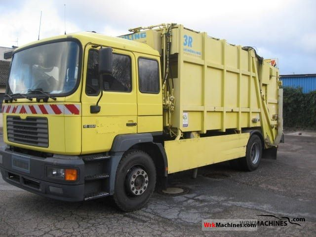 2000 MAN M 2000 L 18.284 Truck over 7.5t Refuse truck photo