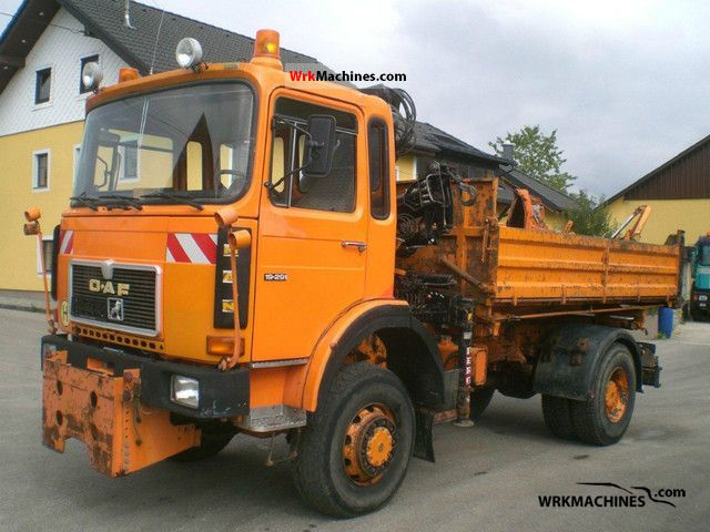 1987 MAN SM 192 Truck over 7.5t Three-sided Tipper photo