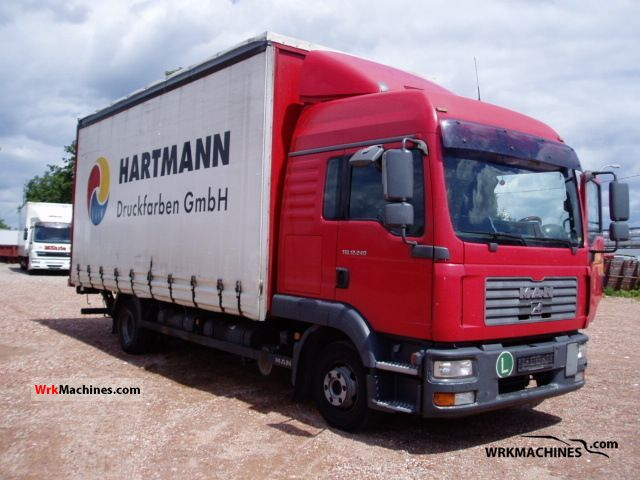 2006 MAN TGL 12.240 Truck over 7.5t Stake body and tarpaulin photo