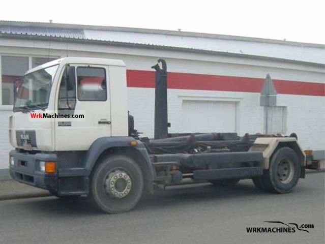 1996 MAN M 2000 L 18.264 Truck over 7.5t Roll-off tipper photo