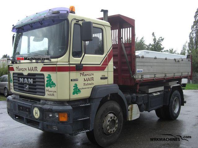1999 MAN F 2000 19.314 FK Truck over 7.5t Three-sided Tipper photo