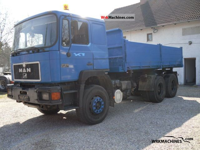 1995 MAN F 90 26.372 DFK Truck over 7.5t Three-sided Tipper photo