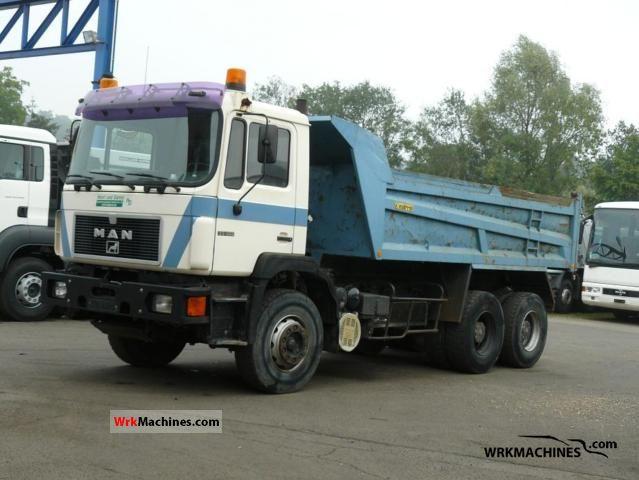 1991 MAN F 90 33.322 Truck over 7.5t Tipper photo