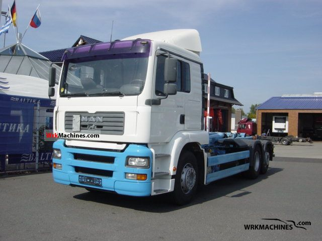 2002 MAN TGA 26.410 Truck over 7.5t Roll-off tipper photo