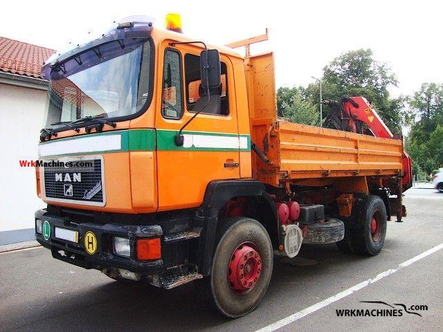 1993 MAN F 90 19.422 FK Truck over 7.5t Three-sided Tipper photo