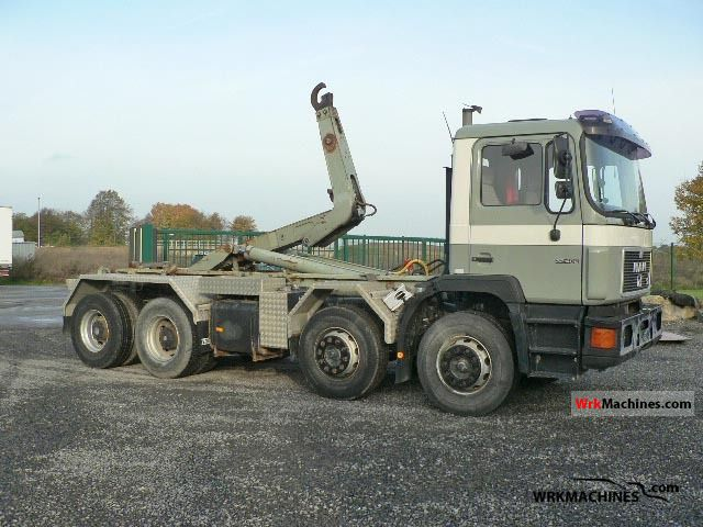 1996 MAN F 90 32.402 Truck over 7.5t Roll-off tipper photo
