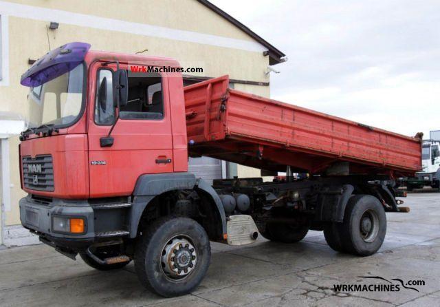1999 MAN F 2000 19.314 Truck over 7.5t Three-sided Tipper photo