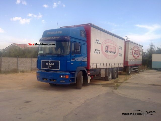 1997 MAN F 2000 26.463 Truck over 7.5t Stake body and tarpaulin photo