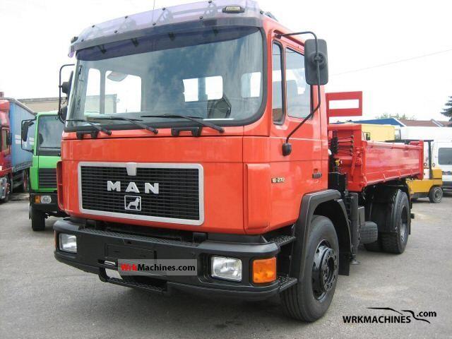 1994 MAN M 90 18.272 Truck over 7.5t Tipper photo