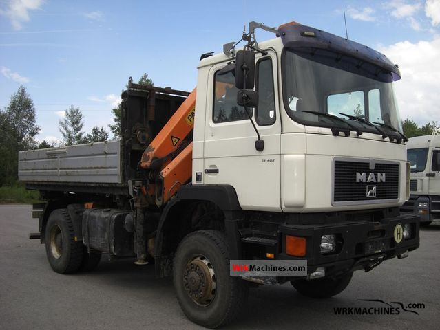 1995 MAN F 90 19.402 Truck over 7.5t Three-sided Tipper photo