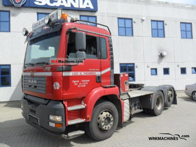 2006 MAN TGA 26.430 Semi-trailer truck Standard tractor/trailer unit photo