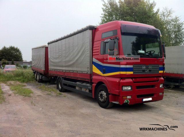 2005 MAN TGA 18.350 Truck over 7.5t Stake body and tarpaulin photo