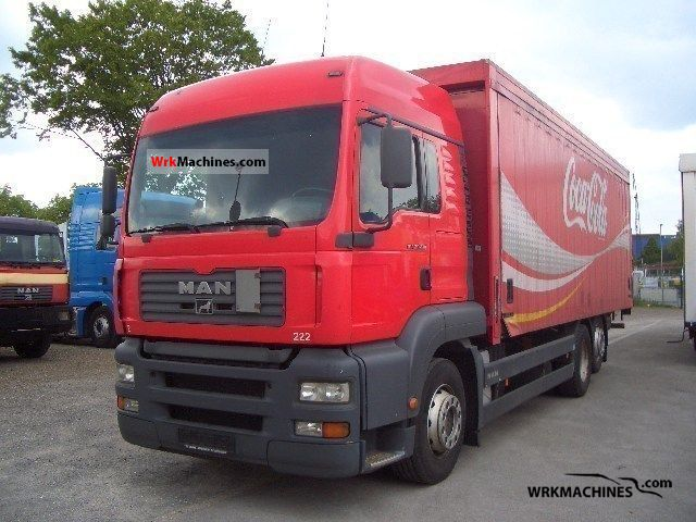 2003 MAN TGA 26.410 Truck over 7.5t Stake body and tarpaulin photo