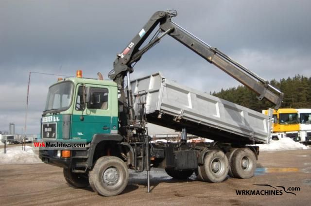 1995 MAN F 90 372 Truck over 7.5t Three-sided Tipper photo