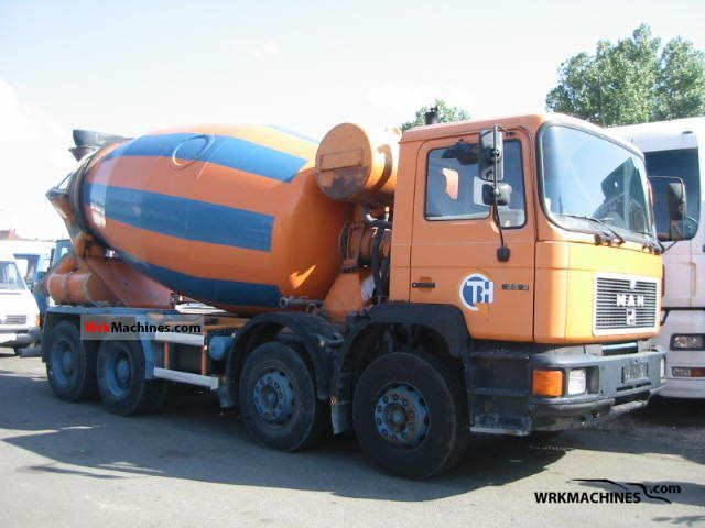 1992 MAN F 90 32.322 Truck over 7.5t Cement mixer photo
