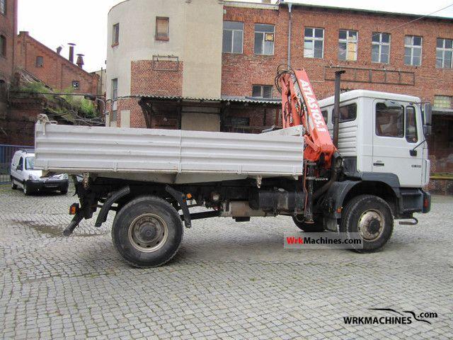 1998 MAN M 2000 L 18.264 Truck over 7.5t Three-sided Tipper photo