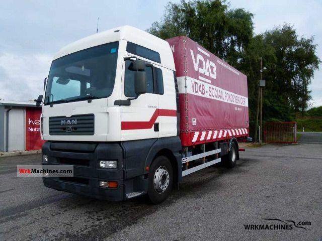 2003 MAN TGA 18.410 Truck over 7.5t Stake body and tarpaulin photo