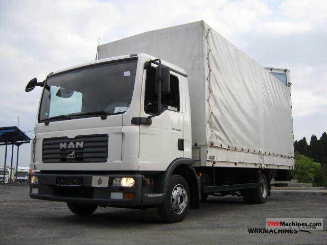 2008 MAN TGL 8.180 Van or truck up to 7.5t Stake body and tarpaulin photo