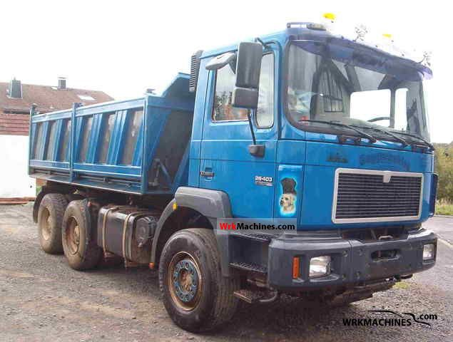 1998 MAN F 2000 26.403 Truck over 7.5t Three-sided Tipper photo