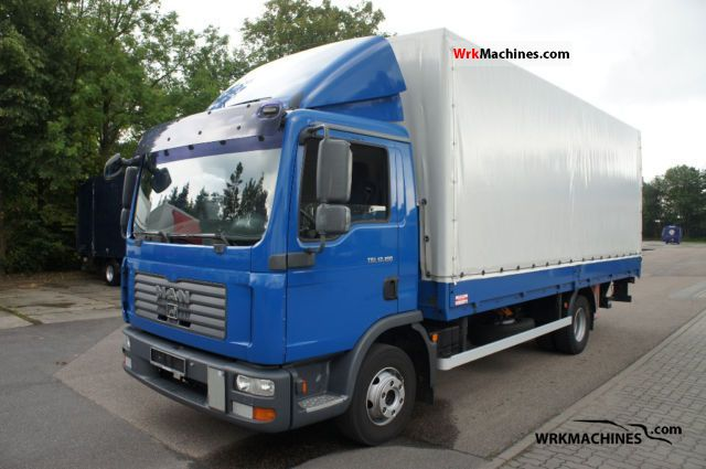 2006 MAN TGL 12.180 Truck over 7.5t Stake body and tarpaulin photo