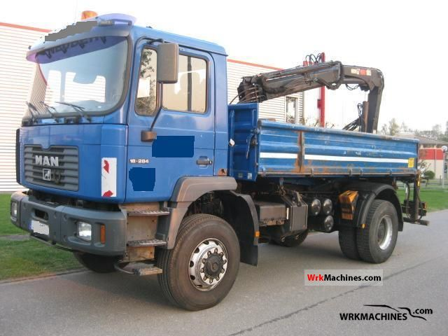 2000 MAN M 2000 L 280 Truck over 7.5t Truck-mounted crane photo