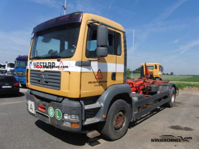 2002 MAN TGA 18.360 Truck over 7.5t Roll-off tipper photo