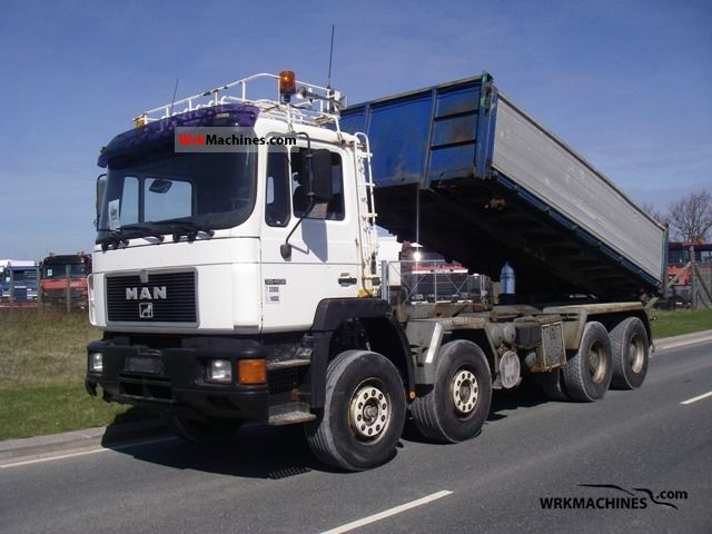 1996 MAN F 90 35.402 Truck over 7.5t Three-sided Tipper photo