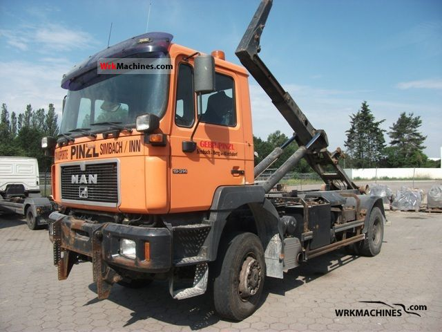 2000 MAN F 2000 19.314 Truck over 7.5t Roll-off tipper photo