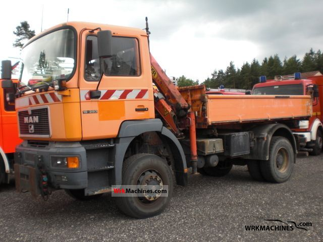 1996 MAN F 2000 19.293 Truck over 7.5t Three-sided Tipper photo