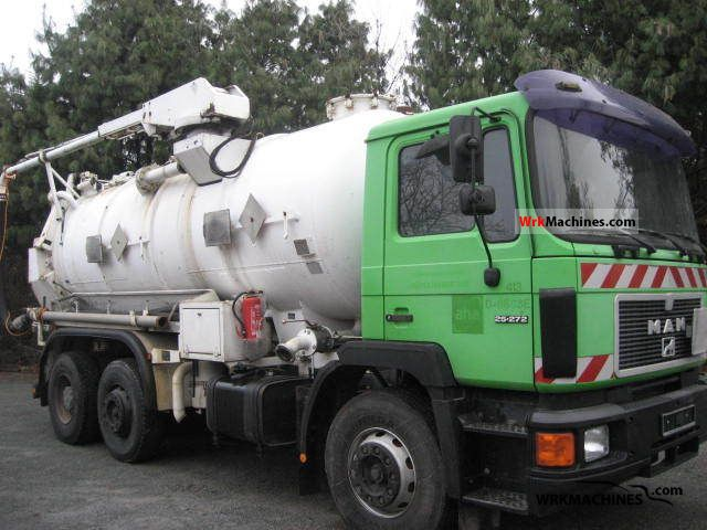 1992 MAN F 90 25.272 Truck over 7.5t Vacuum and pressure vehicle photo