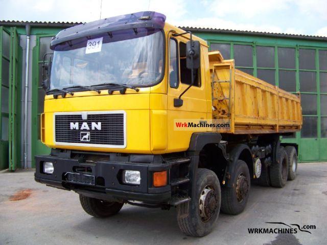 1997 MAN F 90 35.402 Truck over 7.5t Three-sided Tipper photo