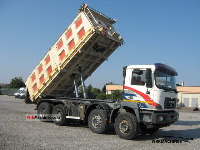2000 MAN LION´S STAR 414 Truck over 7.5t Three-sided Tipper photo
