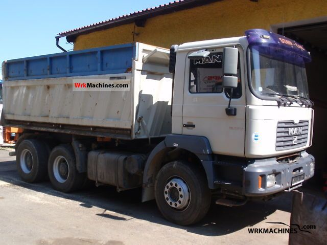 2001 MAN LION´S STAR 414 Truck over 7.5t Three-sided Tipper photo