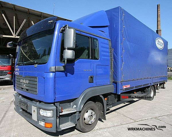 2008 MAN TGL 12.210 Truck over 7.5t Stake body and tarpaulin photo