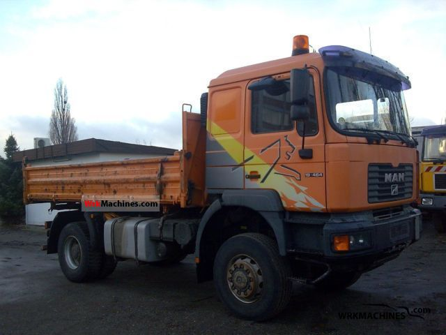 2001 MAN F 2000 19.464 Truck over 7.5t Three-sided Tipper photo