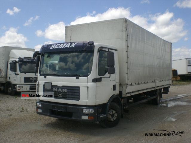 2008 MAN TGL 12.240 Truck over 7.5t Stake body and tarpaulin photo