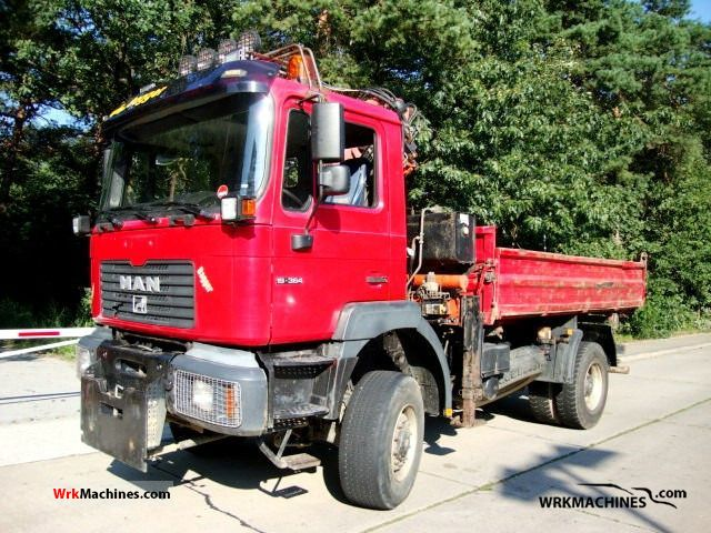 2000 MAN F 2000 19.364 Truck over 7.5t Three-sided Tipper photo