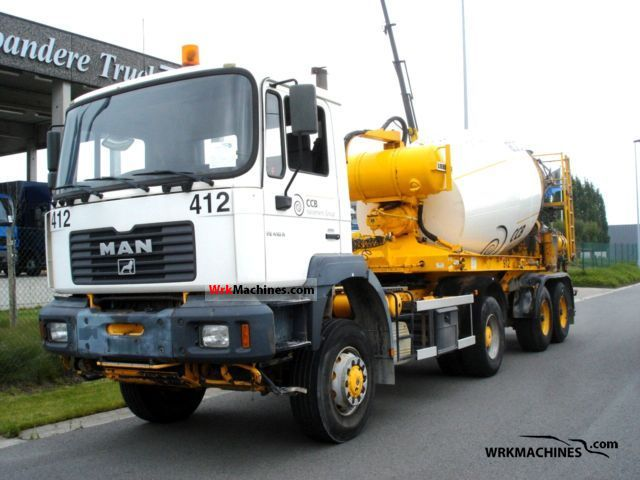 2001 MAN F 2000 19.414 Truck over 7.5t Cement mixer photo