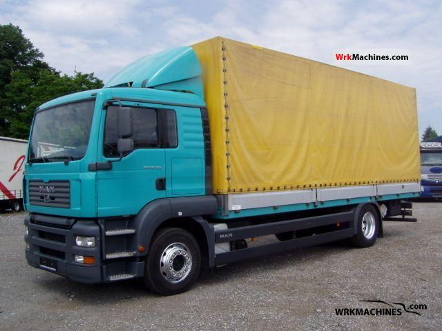 2006 MAN TGA 18.350 Truck over 7.5t Stake body and tarpaulin photo